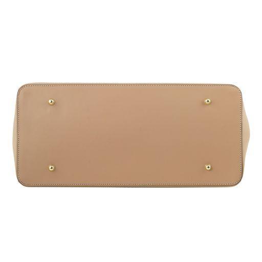 Elettra Borsa a mano media in pelle con accessori oro Giallo TL141646