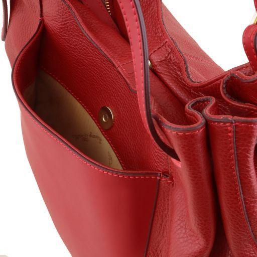 Cinzia Shopping Tasche aus weichem Leder Schwarz TL141515