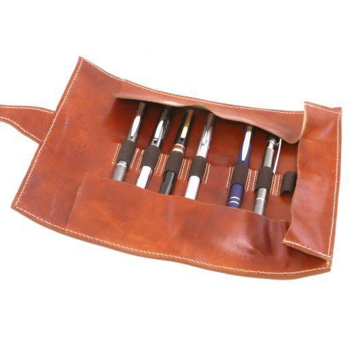 Esclusivo porta penne in pelle Testa di Moro TL141620