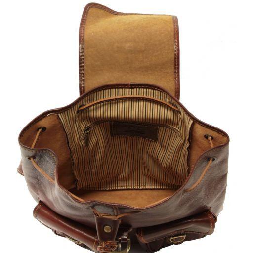 Trekker Juego de mochilas en piel Marrón oscuro TL90173