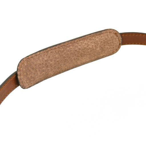 Tracolla in pelle regolabile per cartelle Marrone TL141610