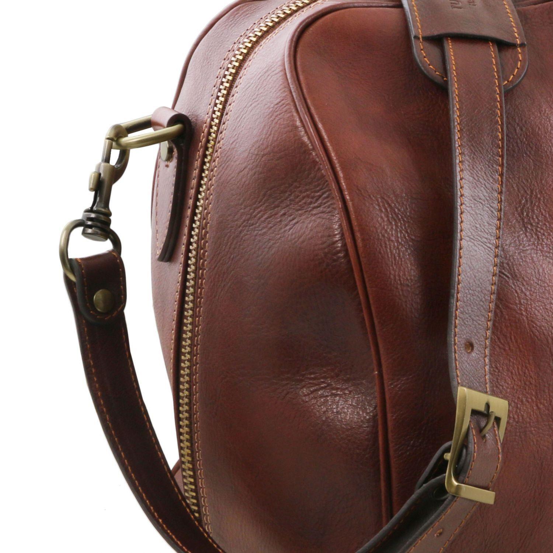 Tuscany Leather Lisbona Sac de voyage en cuir - Petit modèle - TL141658 (Noir) uW8P55tBX