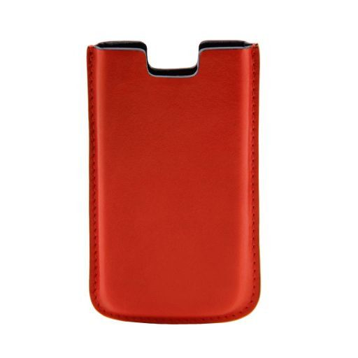 Leather iPhone SE/5s/5 holder Orange TL141128