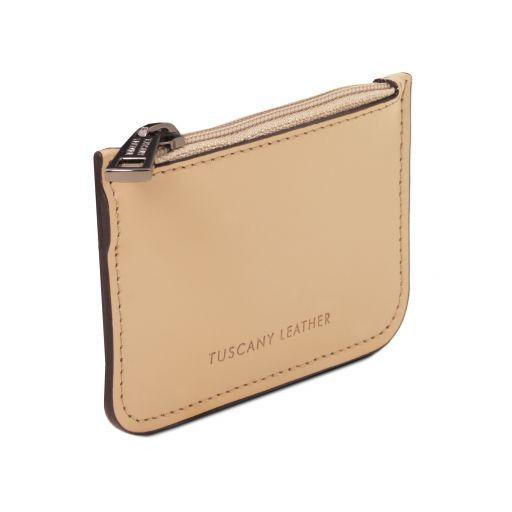 Leather key holder Champagne TL141671