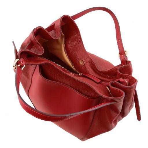 Cinzia Bolso shopping en piel suave Marrón oscuro TL141515