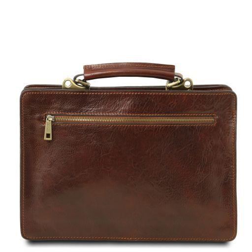 Tania Damenhandtasche aus Leder Dunkelbraun TL141270