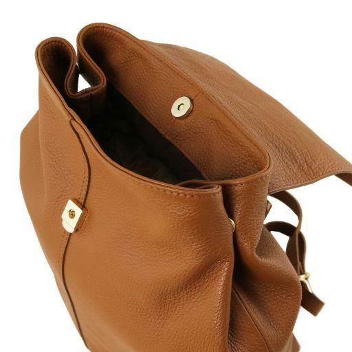 TL Bag Sac à dos pour femme en cuir souple Cognac TL141706