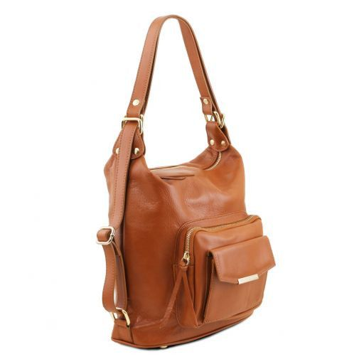 TL Bag Sac en cuir convertible en sac à dos Rouge TL141535