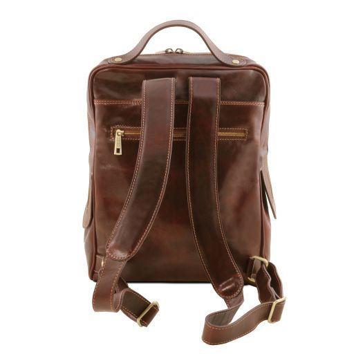 Bangkok Leather laptop backpack Black TL141793