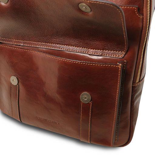Nagoya Notebook Rucksack aus Leder Braun TL141857