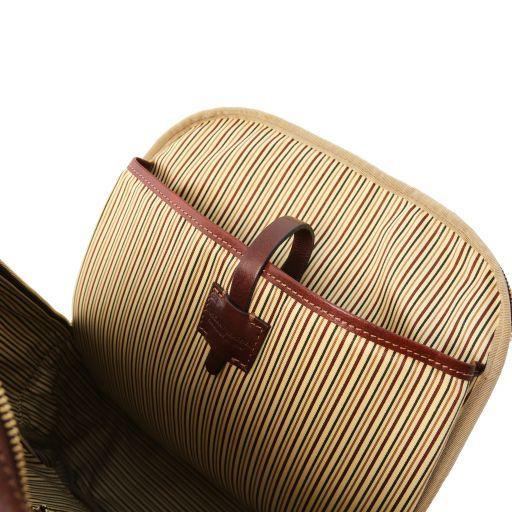 Nagoya Leather laptop backpack Dark Brown TL141857