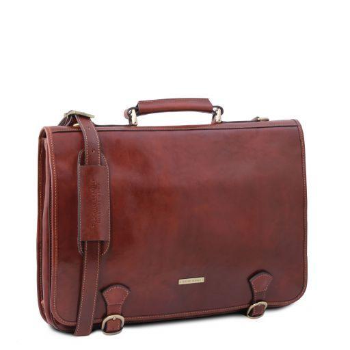 Ancona Messenger Tasche aus Leder Braun TL141853
