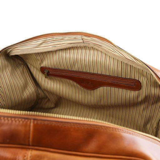 TL Voyager Leather travel bag with front pocket Коричневый TL141401