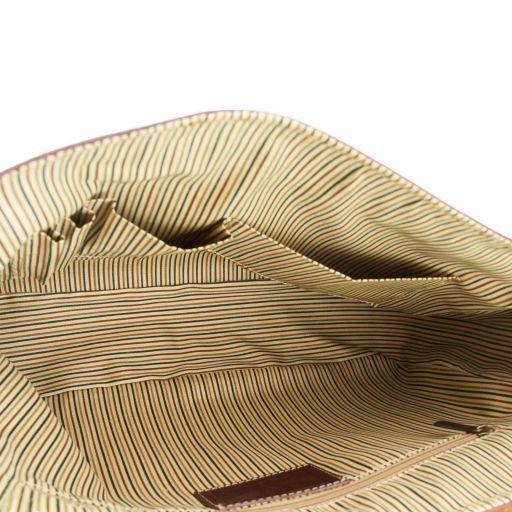 Padova Elégante serviette pour portable en cuir Marron foncé TL140891