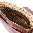 TL Messenger One compartment leather shoulder bag Brown TL141260