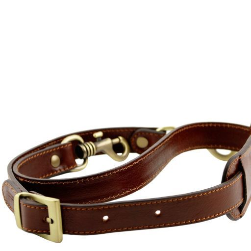TL Voyager Adjustable leather shoulder strap Brown TL141929