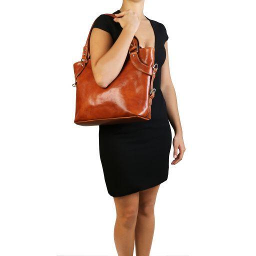 Ilenia Bolso en piel para mujer Negro TL140899