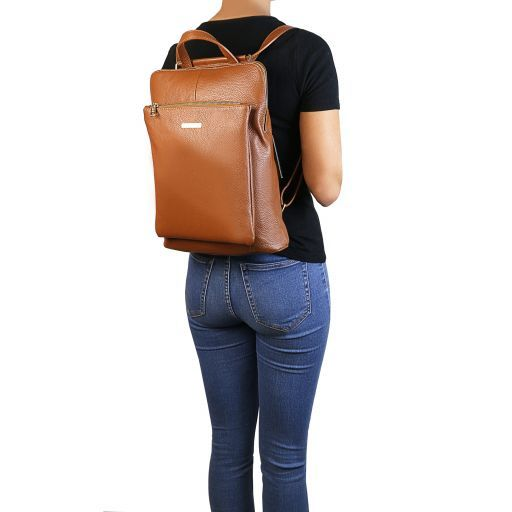 TL Bag Soft leather backpack for women Mint Green TL141682