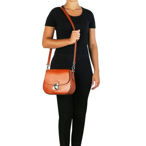 TL Neoclassic Leather shoulder bag Dark Blue TL141517