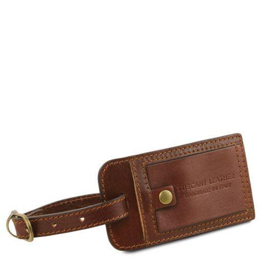 TL Voyager Maleta de viaje en piel con bolsillos al lado Marrón TL141296