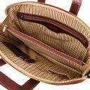 Caserta Document Leather briefcase Dark Brown TL142070
