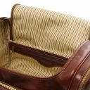 TL Voyager Travel leather bag with side pockets - Small size Brown TL142142