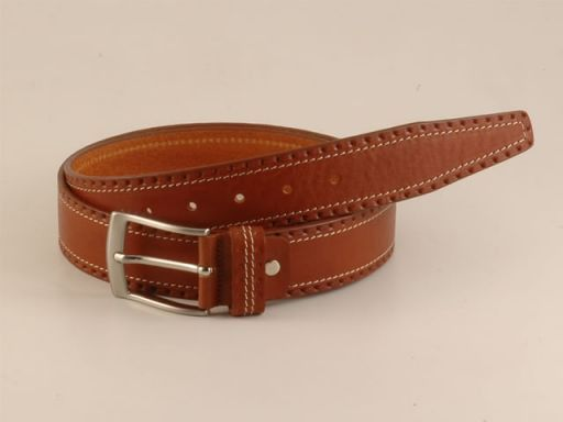 Esclusiva cintura in pelle Marrone TL140582