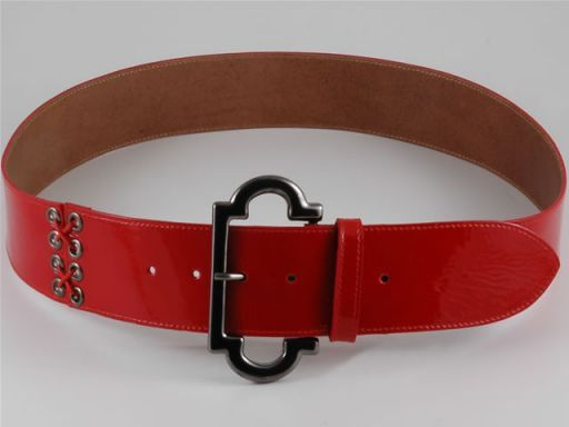 Esclusiva cintura in pelle Rosso TL140649