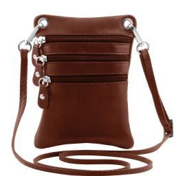 TL Bag Soft leather mini cross bag Brown TL141368