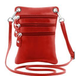 TL Bag Soft leather mini cross bag Red TL141368