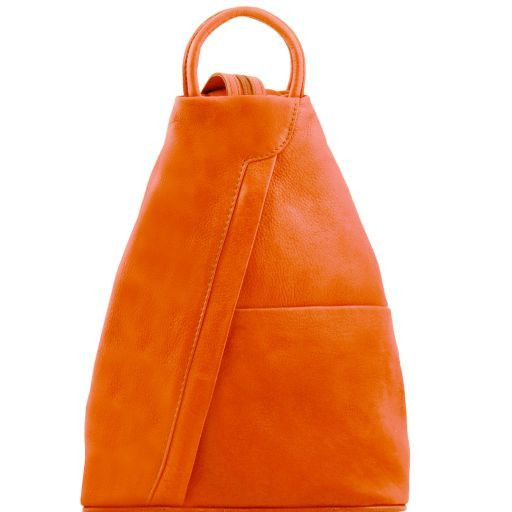 Shanghai Leather backpack Orange TL141433