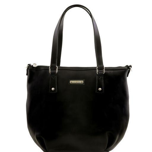 Olga Sac shopping en cuir - Grand modèle Noir TL141484