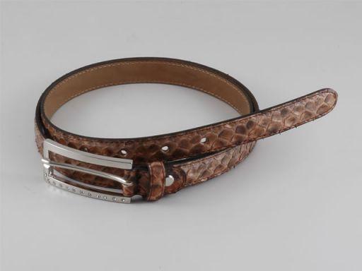 Esclusiva cintura donna in vero pitone Marrone TL140677