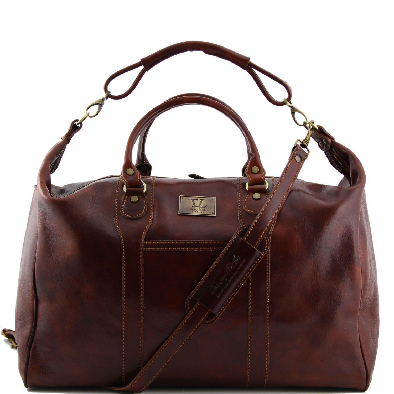 Tuscany Leather Amsterdam Sac de voyage en cuir Marron gyffJ