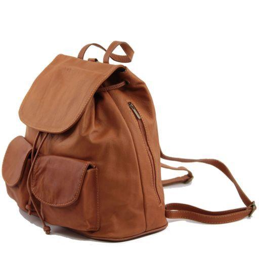 Seoul Praktischer Rucksack aus Leder Groß Rot TL90142