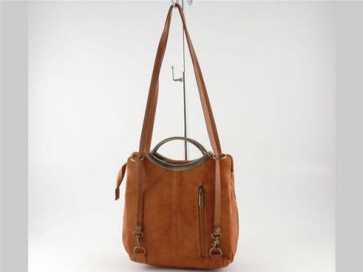 Lory Lady leather bag Cognac TL90155