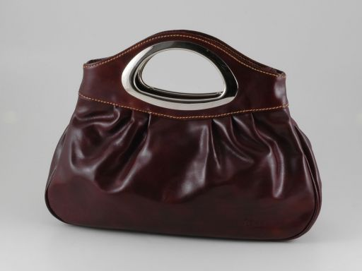 Nicole Lady leather bag Dark Brown TL140690