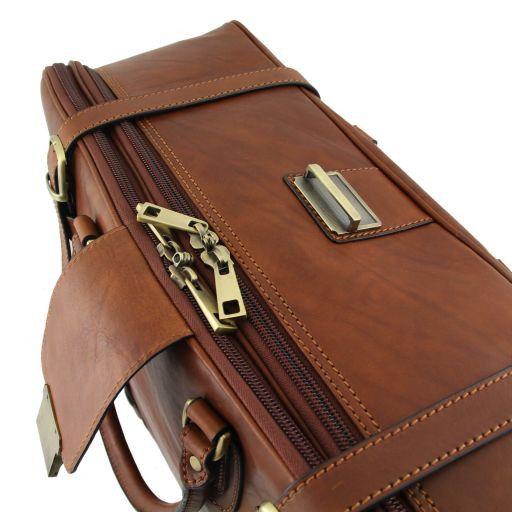 Londra Esclusiva valigia da viaggio in pelle Marrone TL140333