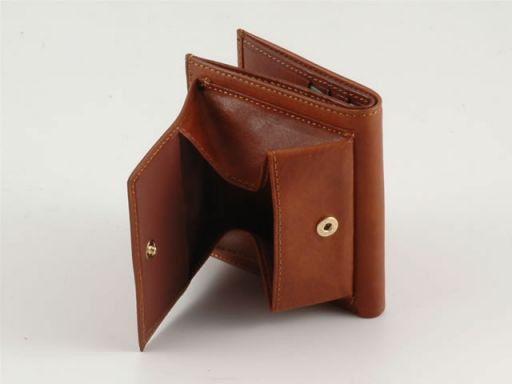 Esclusivo portafoglio unisex in pelle Marrone TL140388