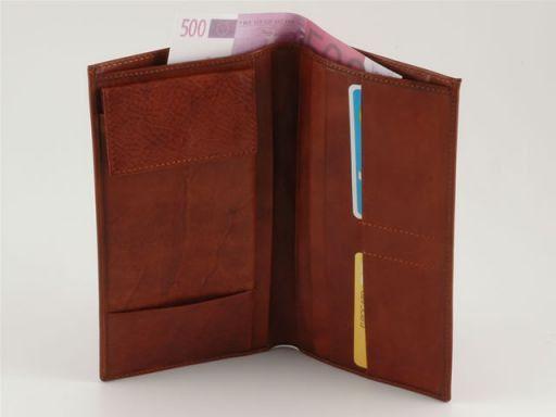 Esclusivo portadocumenti di viaggio in pelle Marrone TL140432