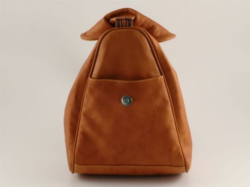 Manila Leather backpack Brown TL140444