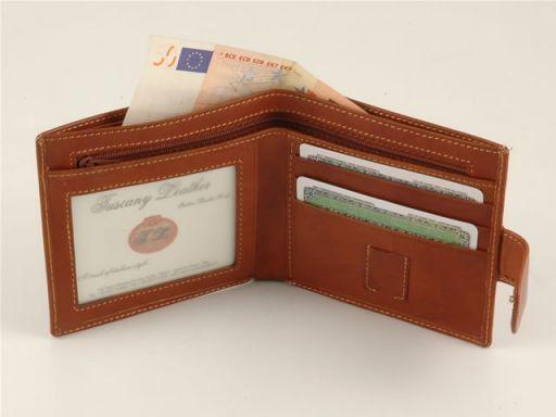 Esclusivo portafogli in pelle da uomo Marrone TL140510