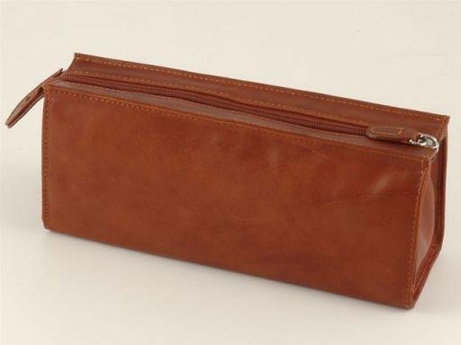 Esclusivo beauty case in pelle Marrone TL140515