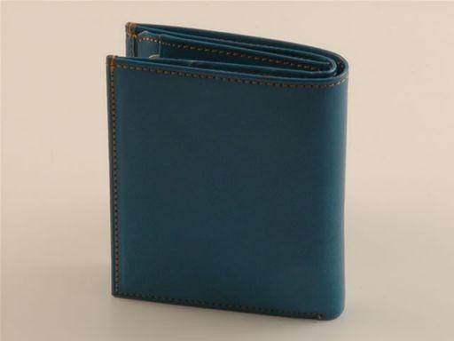 Esclusivo portafogli da uomo in pelle Azzurro TL140627