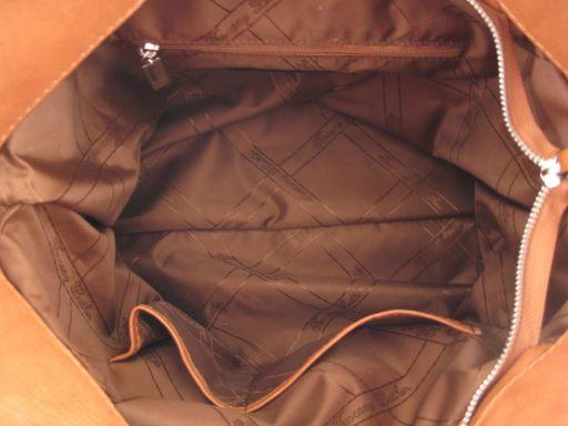 Aurora Borsa in pelle da donna Cognac TL140633