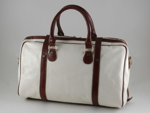 Berlin Travel leather bag -Yachting line - Small size Белый TL140679
