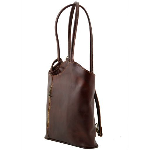 Patty Borsa donna in pelle convertibile a zaino Verde TL140691