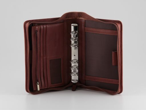 Commodo Esclusivo organizer in pelle Marrone FC140718