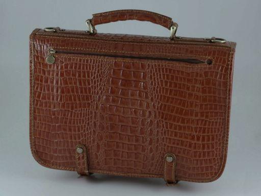 Capri Cartella in pelle stampa cocco Marrone TL140747
