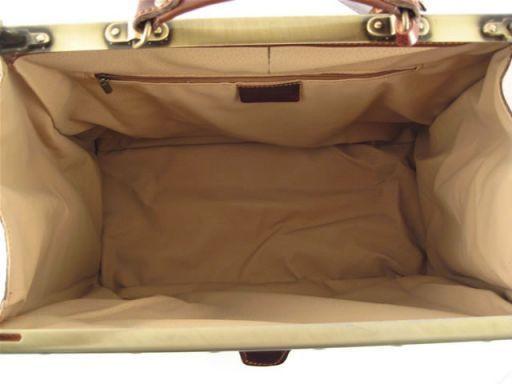 Madrid Sac de voyage en cuir imprimé croco- Grand modèle Marron foncé TL140752